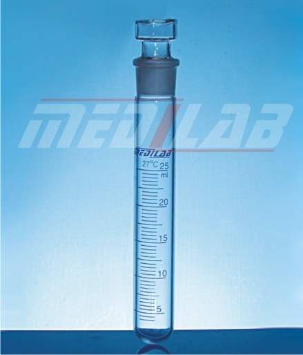 Test Tube, with Interchangeable Stopper, Graduated
