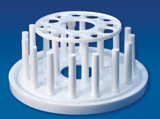 Test Tube Stand, Round, PP