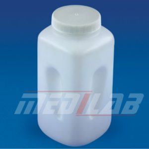 Wide Mouth Square Bottle, PP