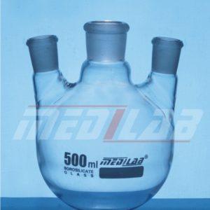 Flasks, Round/Flat Bottom, Three Necks, Parallel