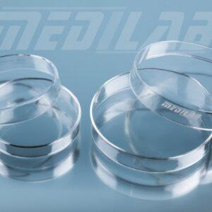 2 Sizes of Petri Dishes Made of Borosilicate Glass 3.3