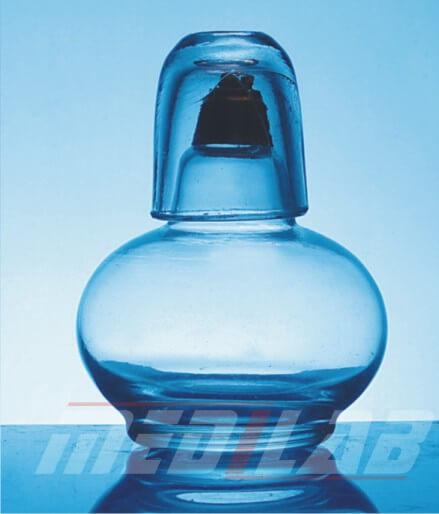 Spirit Lamp, Glass, Round